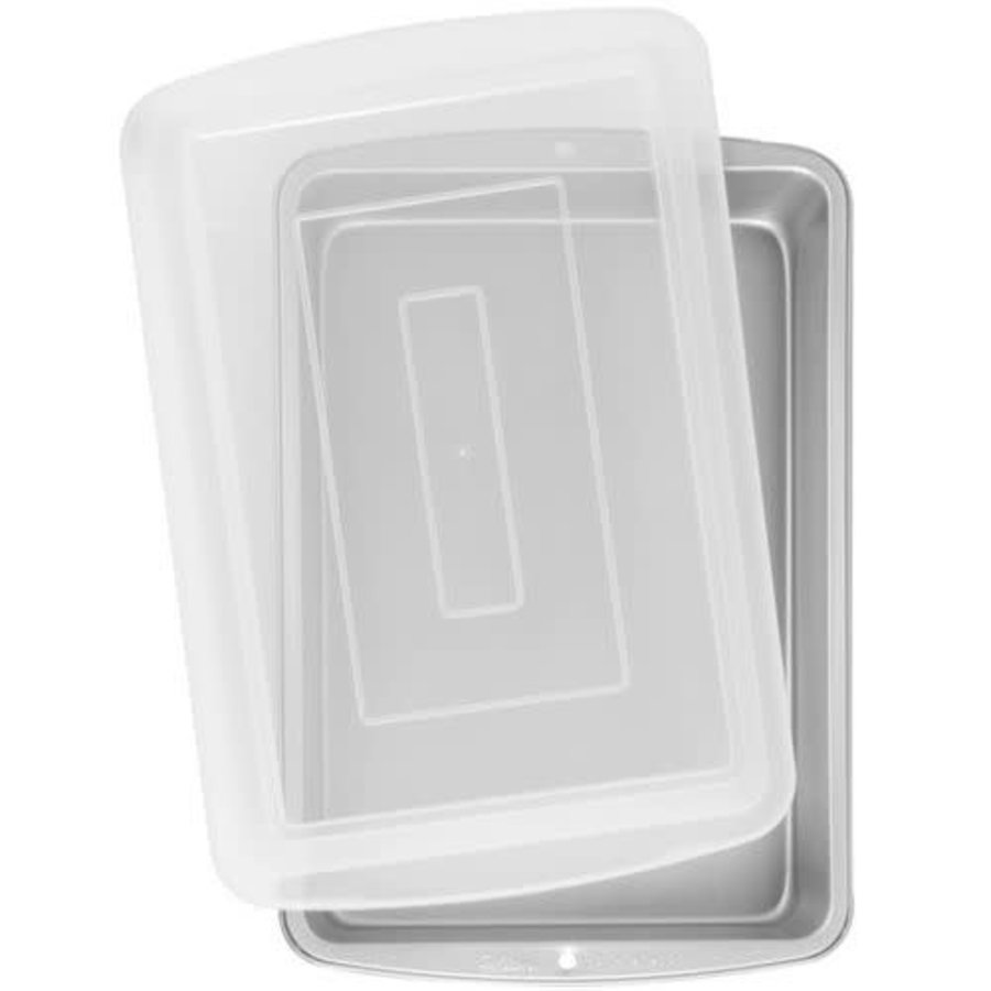 Wilton Recipe Right® Oblong Pan with Cover 32,5x22,5x5cm-1