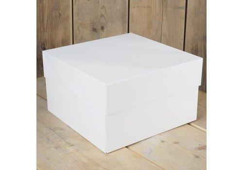 FunCakes Taartdoos -Blanco 20x20x15cm- zv