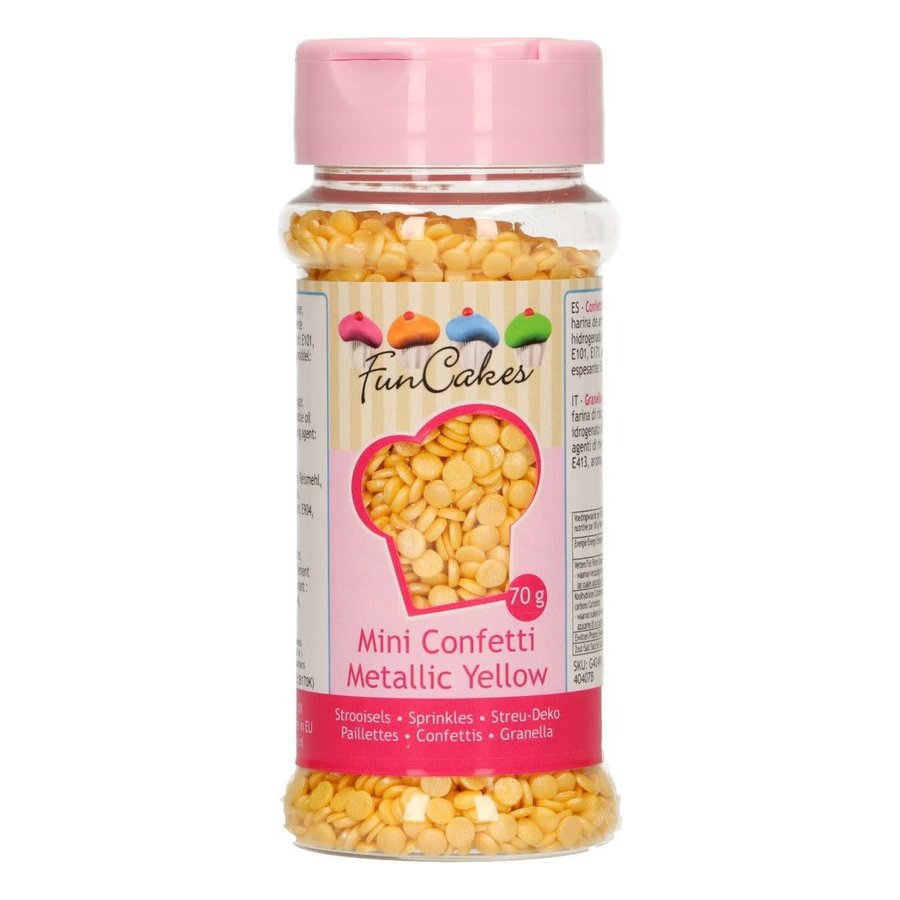 FunCakes Confetti Metallic geel 70g-1