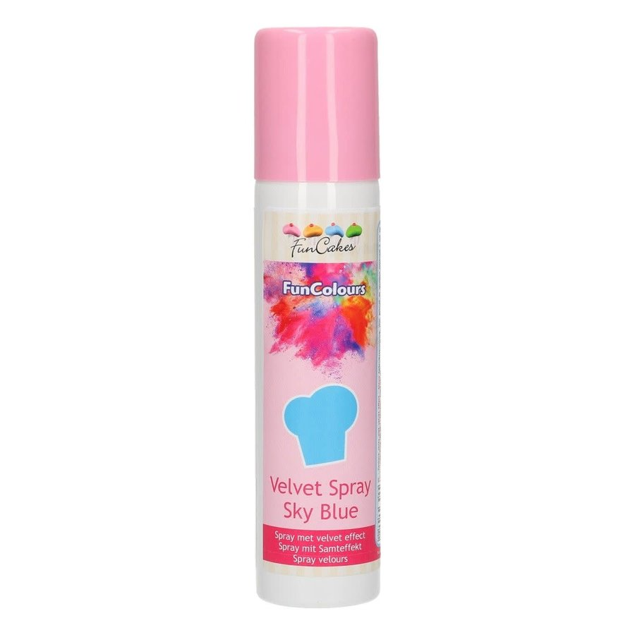FunCakes FunColours Velvet Spray -Sky Blue- 100ml-1
