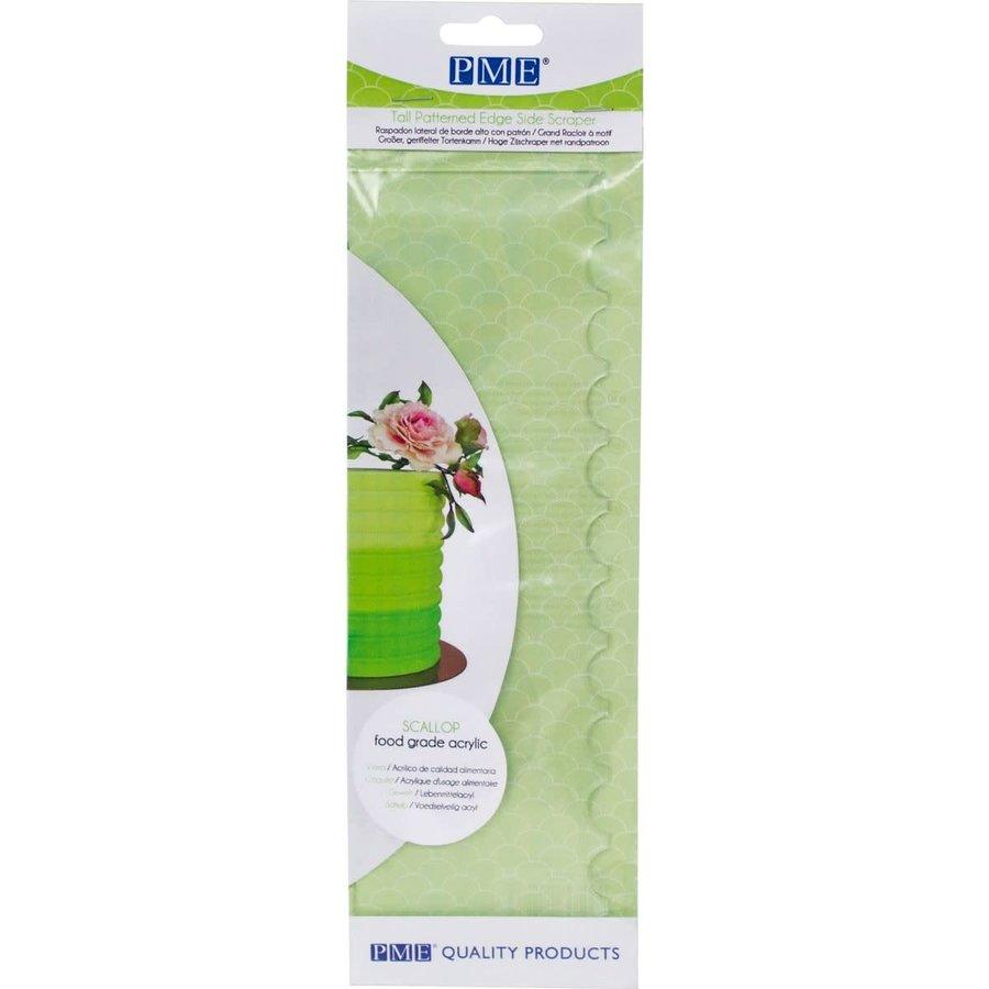 PME Tall Patterned Edge Side Scraper -RibbedPME Tall Patterned Edge Side Scraper -Scallop--1