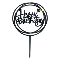 happy birthday topper hart zwart