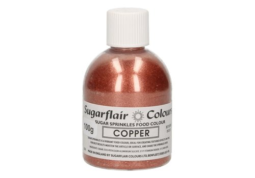 Sugarflair Sugar Sprinkles -Copper- 100g