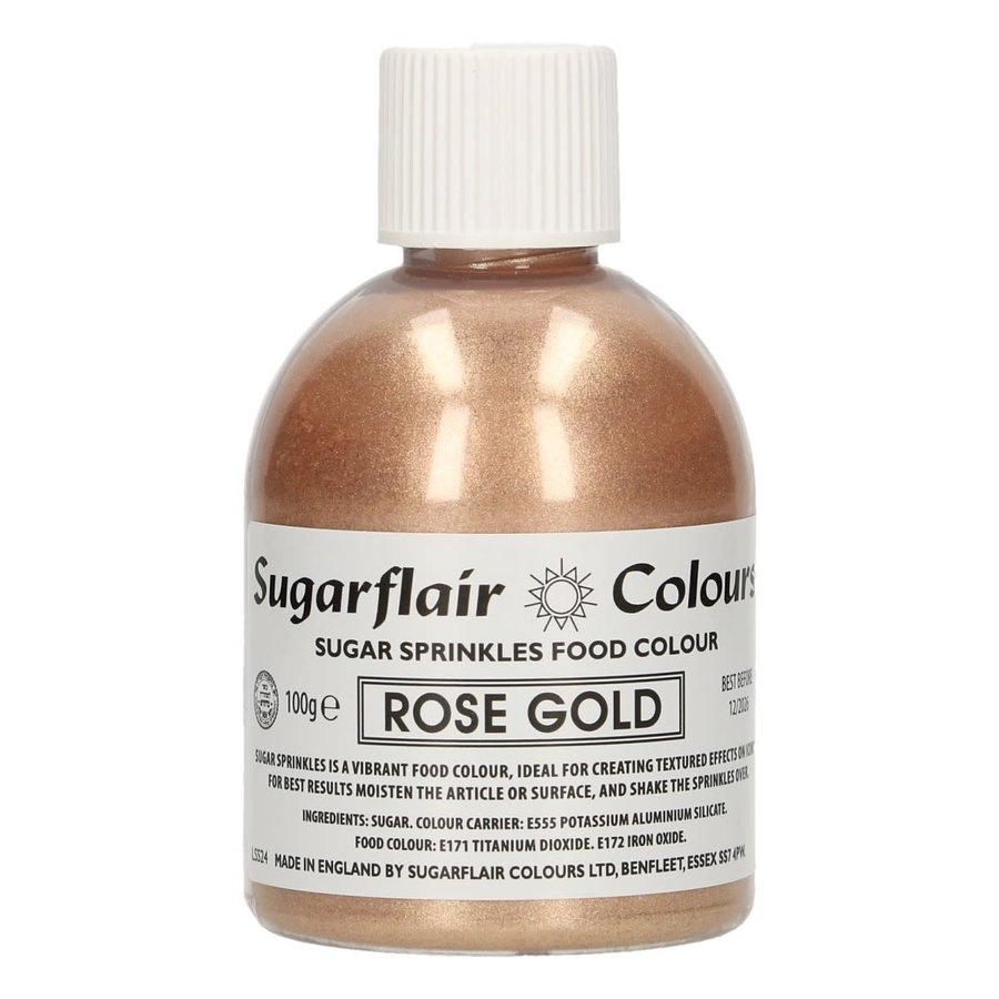 Sugarflair Sugar Sprinkles -Rose Gold- 100g-1