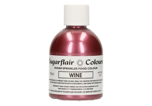 Sugarflair Sugar Sprinkles -Wine- 100g