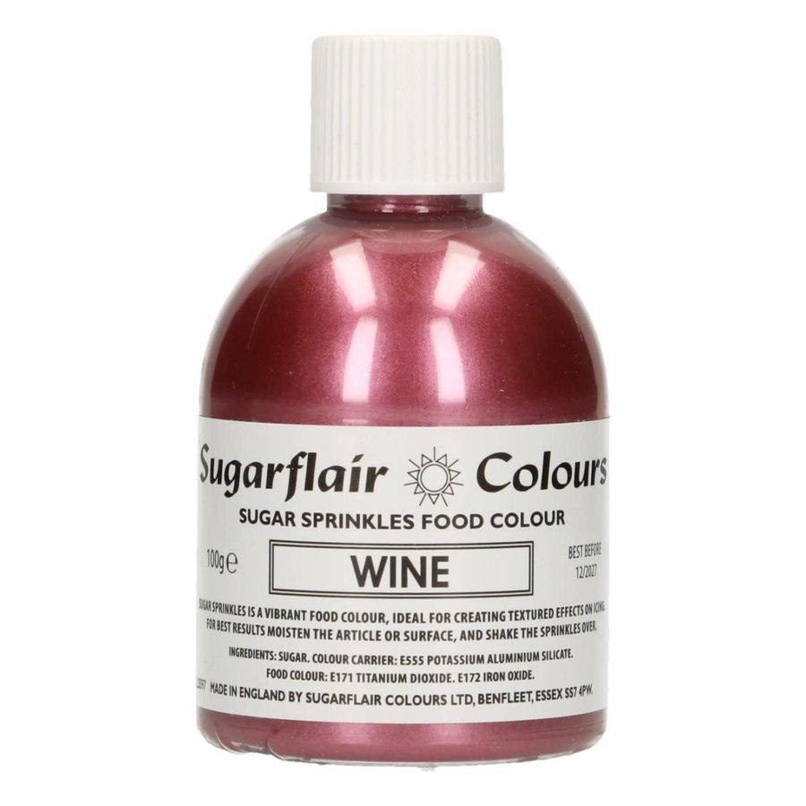 Sugarflair Sugar Sprinkles -Wine- 100g-1