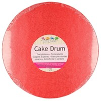 FunCakes Cake Drum Rond Ø30,5cm -Rood-