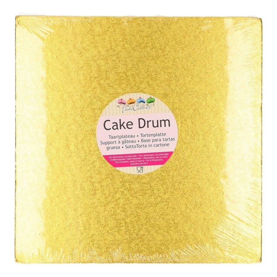 FunCakes Cake Drum Vierkant 30,5cm -Goud--1