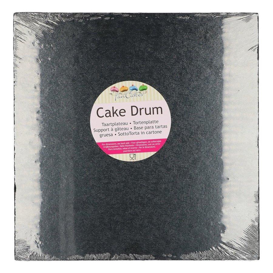 FunCakes Cake Drum Vierkant 30,5cm -Zwart--1