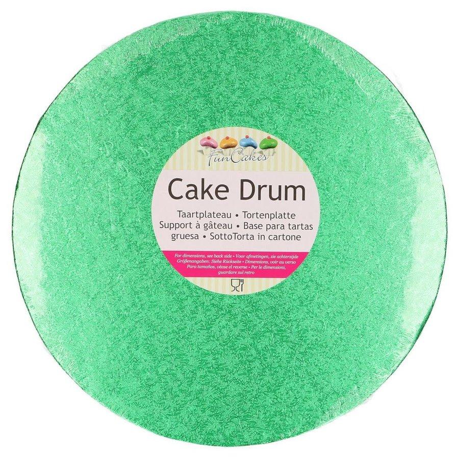 FunCakes Cake Drum Rond Ø25cm -Groen--1