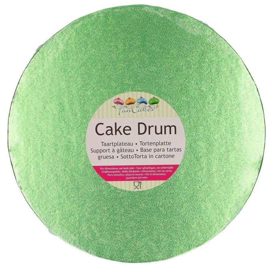 FunCakes Cake Drum Rond Ø25cm -Licht Groen--1