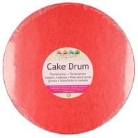 FunCakes Cake Drum Rond Ø25cm -Rood-