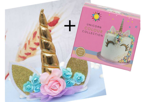 Sugarflair Unicorn Collection incl hoorn van stof  Set/6