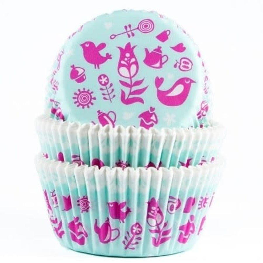 House of Marie Baking cups Teaparty - pk/50-1