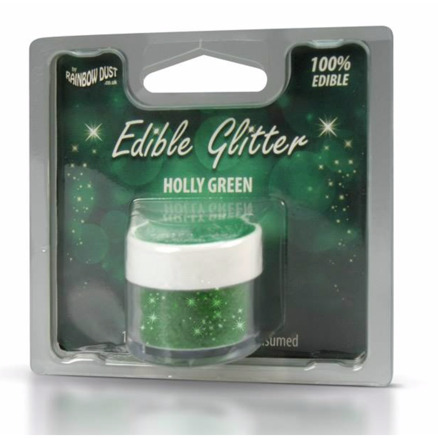 Rd edible glitter holly green 5g-1