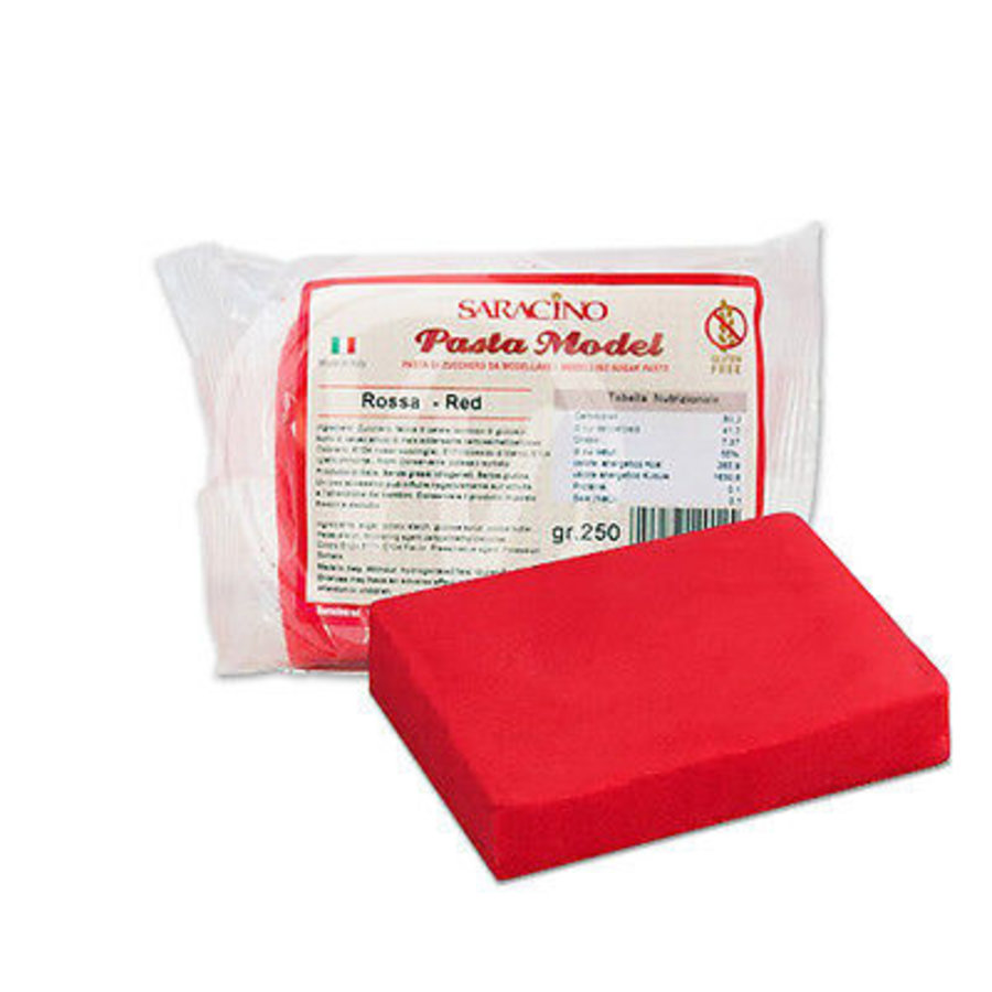 Saracino modeling paste rood 250gr-1