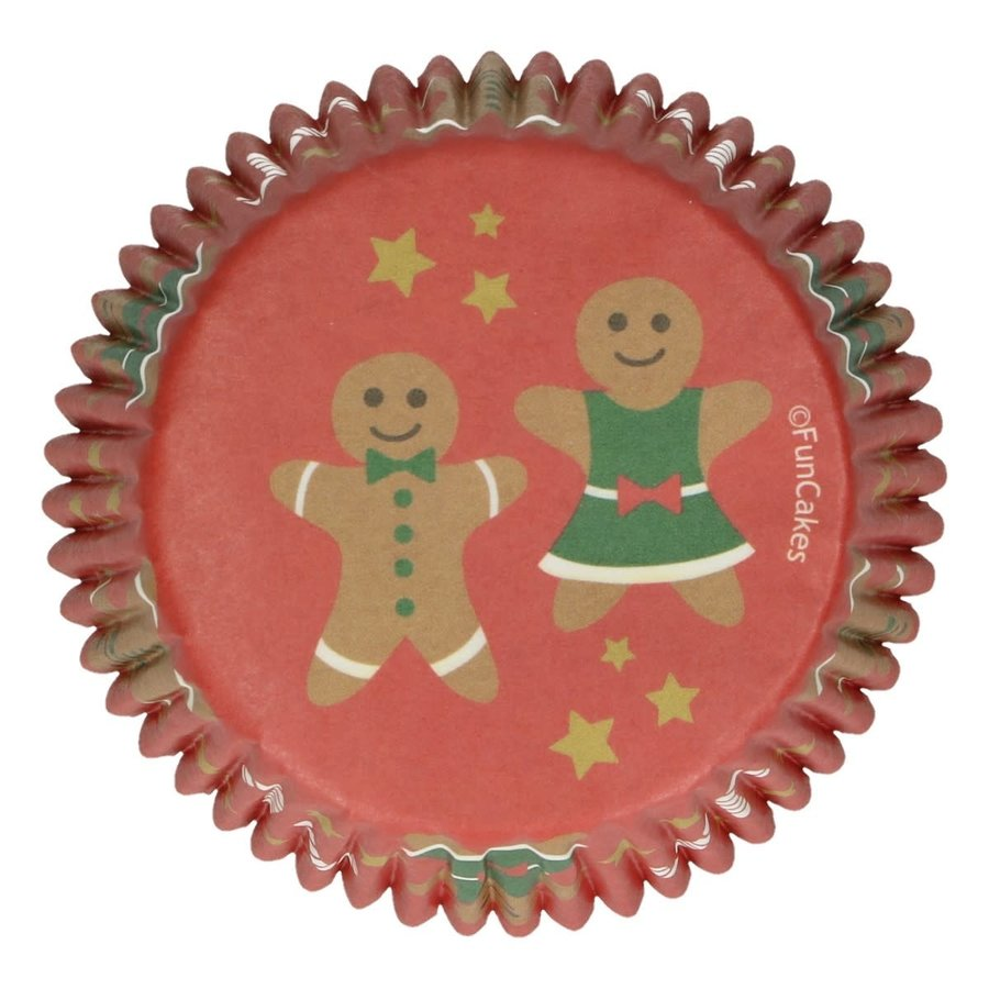 FunCakes Baking Cups -Gingerbread- pk/48-1
