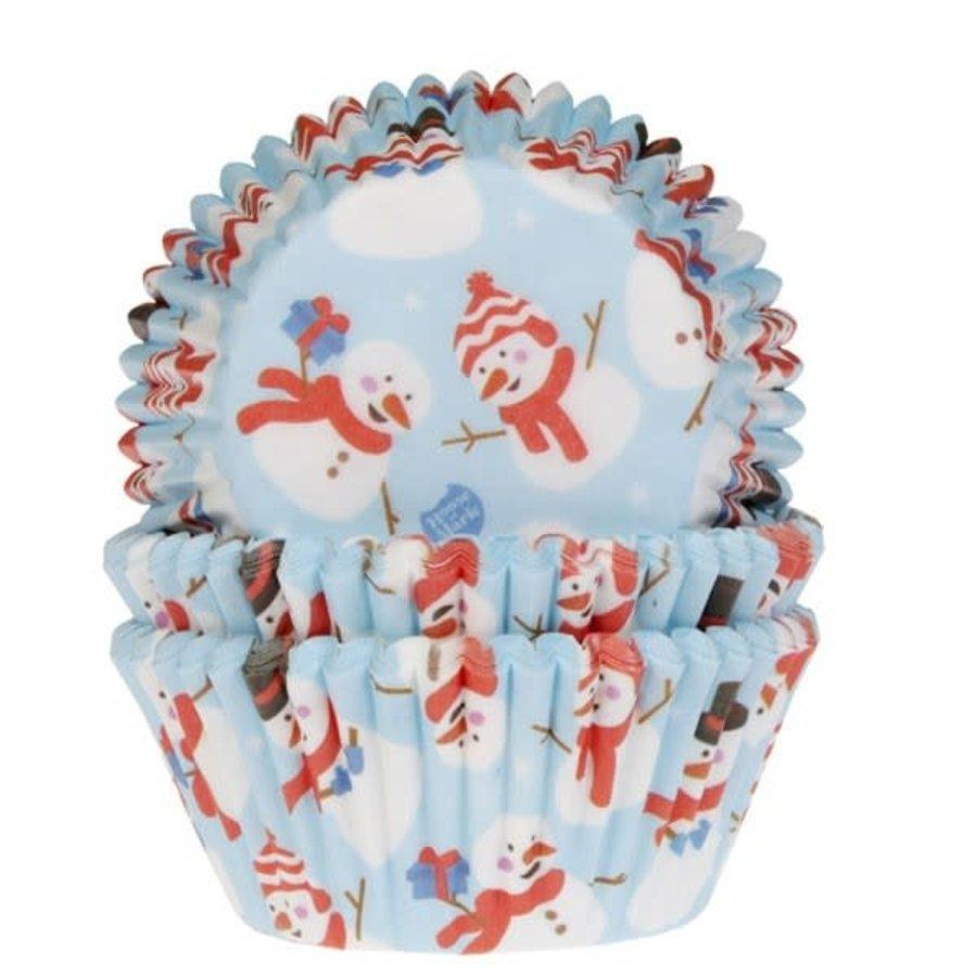 House of Marie Baking Cups Sneeuwpop pk/50-1