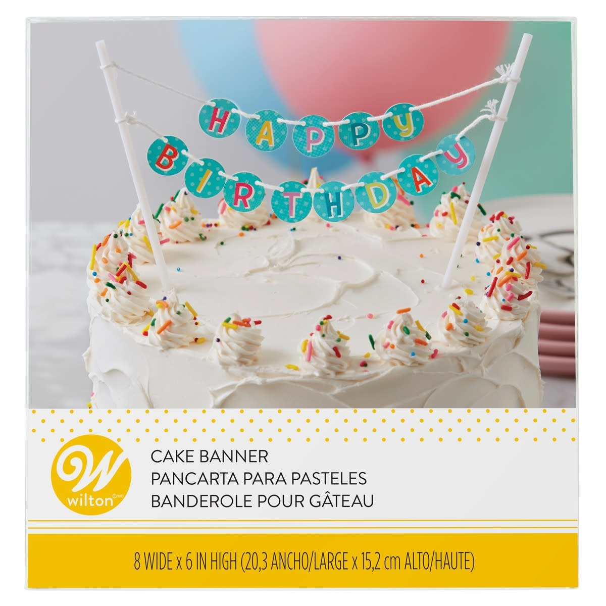 Tremendous Wilton Cake Banner Happy Birthday Taartdecoratief Nl Funny Birthday Cards Online Fluifree Goldxyz
