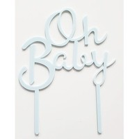 oh baby topper blauw acryl