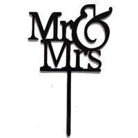 mr & mrs topper acryl zwart