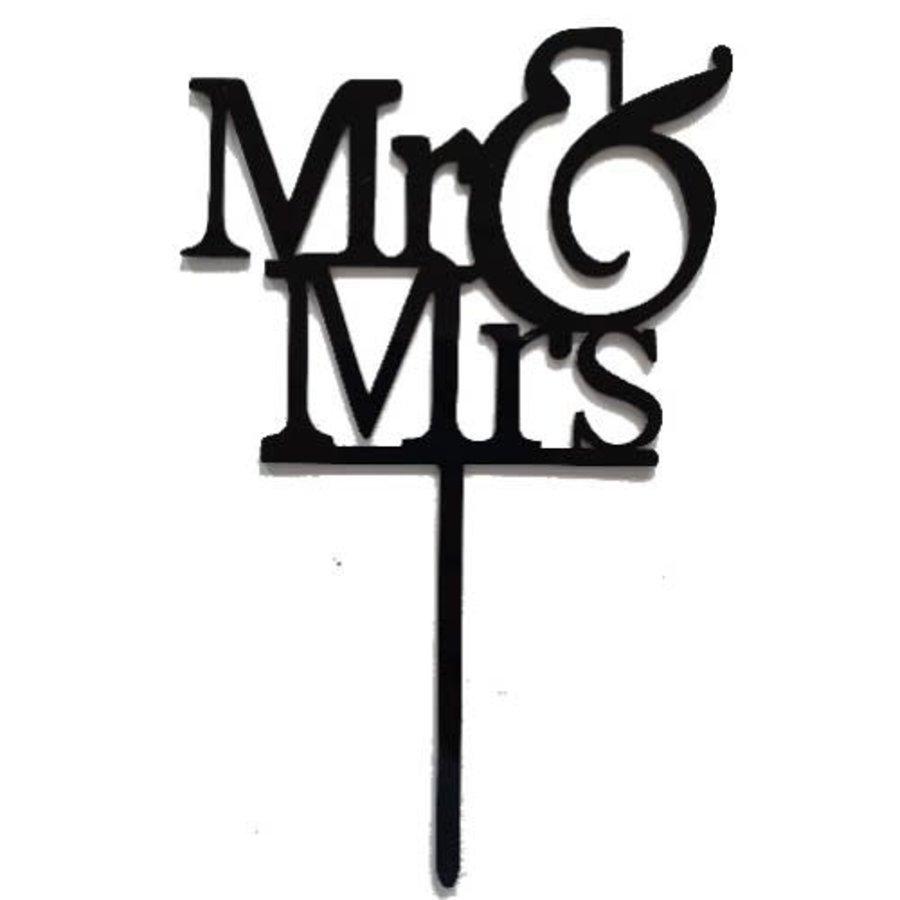 mr & mrs topper acryl zwart-1