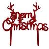 christmas topper acryl rood