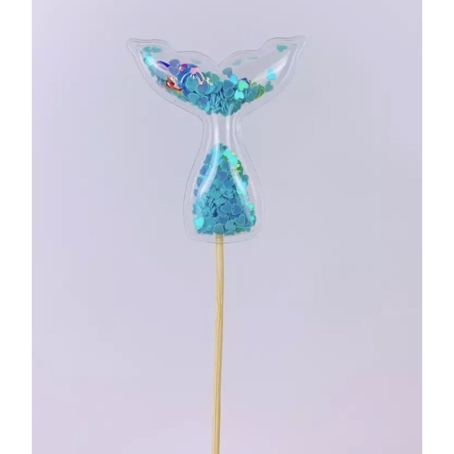 glitter prikker zeemeermin blauw 5cm-1