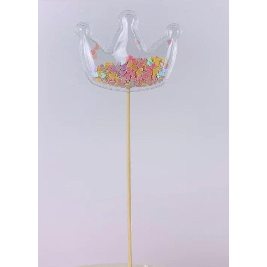 glitter prikker kroon 6cm-1