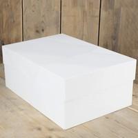Taartdoos blanco 40x30x15 cm zv