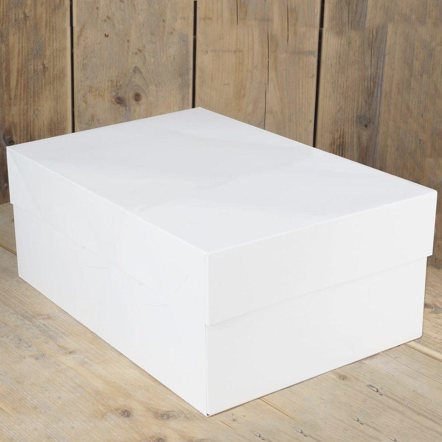 Taartdoos blanco 40x30x15 cm zv-1