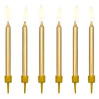 PartyDeco Verjaardag Kaarsen goud 6cm pk/6