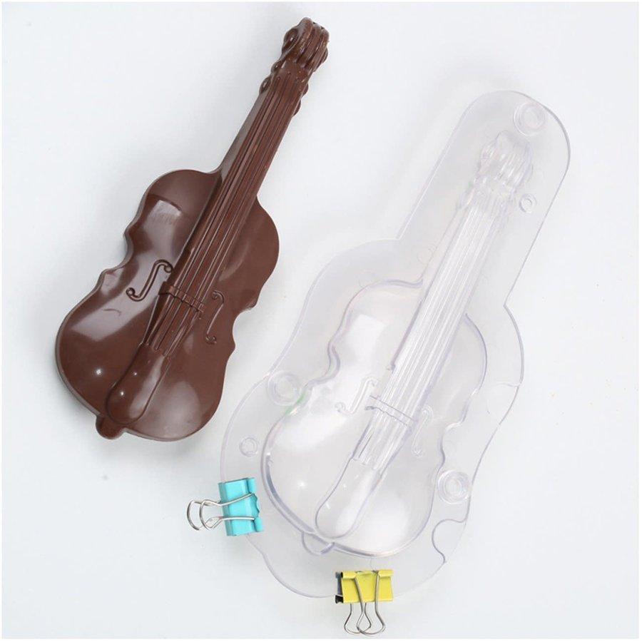 Viool mal (3D) voor chocolade-1