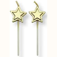 PME Candles Gold Stars pk/8