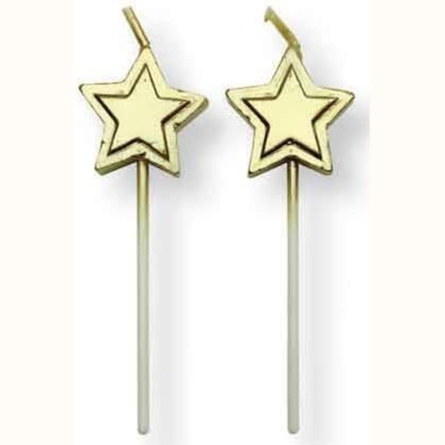PME Candles Gold Stars pk/8-1