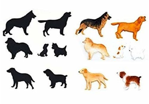 Patchwork Cutters ' Dog Silhouette Set 1 '