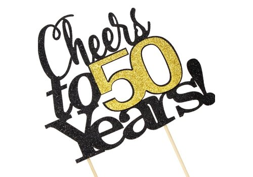 Cheers to 50 years! topper