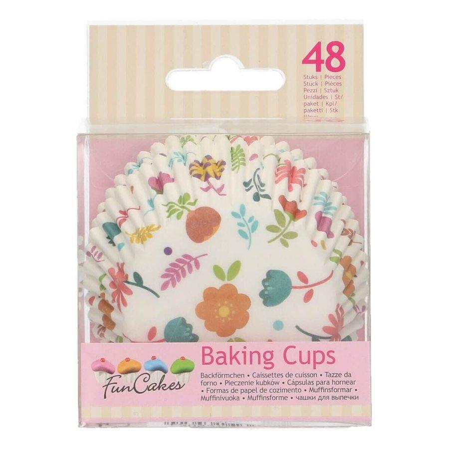 FunCakes Baking Cups -Floral- pk/48-1
