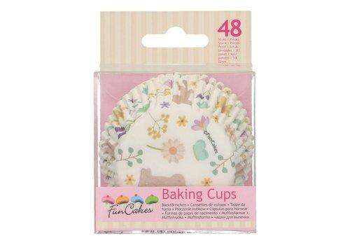 FunCakes Baking Cups -Spring Animals- pk/48