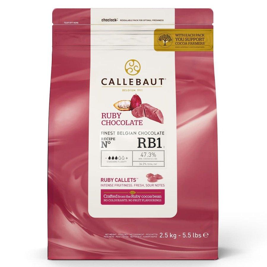 Callebaut Chocolade Callets Ruby 150 gram-1