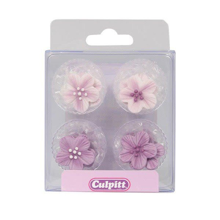 Culpitt Suikerdecoratie Bloemen Paars pk/12-2