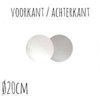 Taartonderzetter Wit / Zilver Ø20 cm per stuk