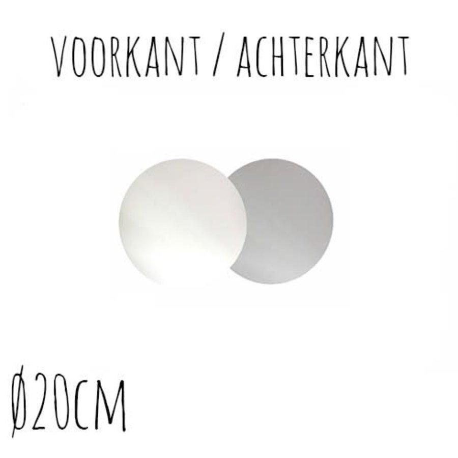 Taartonderzetter Wit / Zilver Ø20 cm per stuk-1