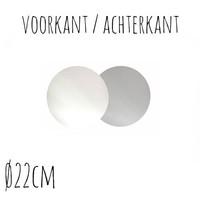 Taartonderzetter Wit / Zilver Ø22 cm per stuk