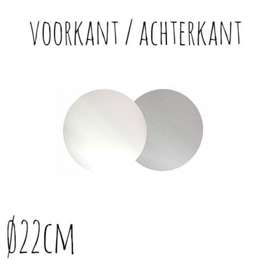 Taartonderzetter Wit / Zilver Ø22 cm per stuk-1