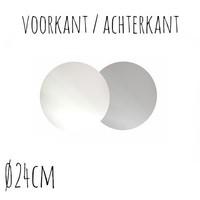 Taartonderzetter Wit / Zilver Ø24 cm per stuk