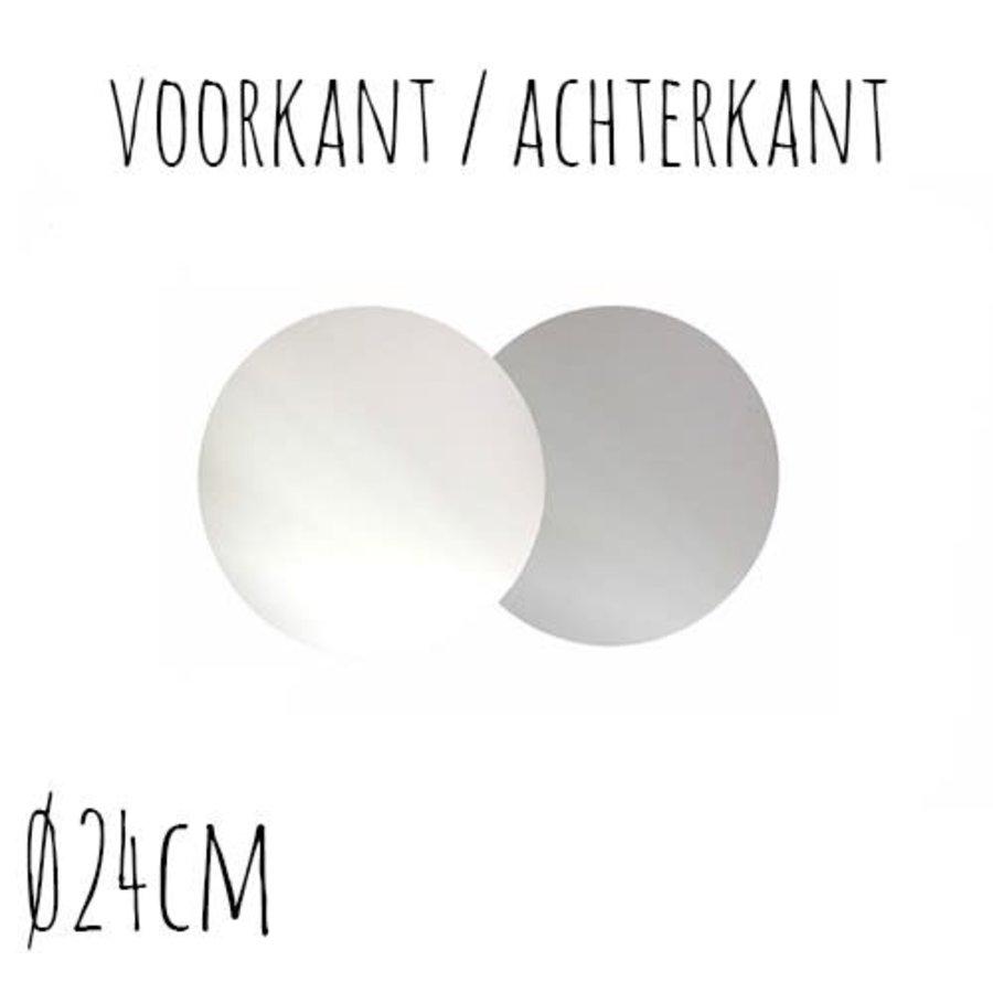 Taartonderzetter Wit / Zilver Ø24 cm per stuk-1