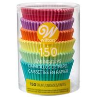 Wilton Cupcakevormpjes Regenboog Pastelkleuren pk/150