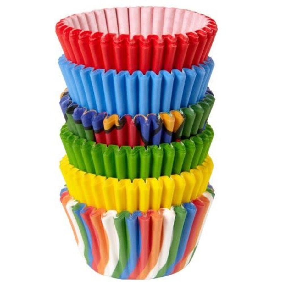 Wilton Mini Cupcakevormpjes Primaire Kleuren pk/150-1
