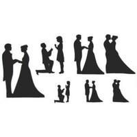 Patchwork Cutter Wedding Silhouette Set